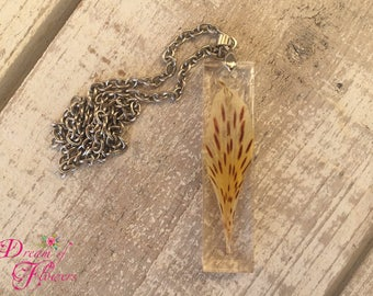 Pendent Natur-Resin and true flowers-Handmade-customizable/natur pendant-resin and real flowers-hand made-customizable
