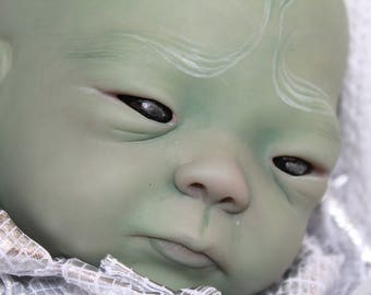 "Galactic Alien Kameko 20""  Realistic Reborn OOAK Baby Doll"