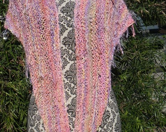Handmade, knit, prisma yarn, stylish, fashionable, shawl