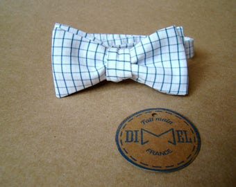 Bow tie adjustable blue and white tiles to order