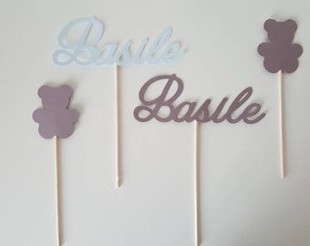 Mini photobooth for baby - first name + Teddy colors to choose