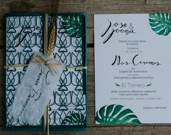 Wedding Stationery Tropical-Tropical wedding Invitation