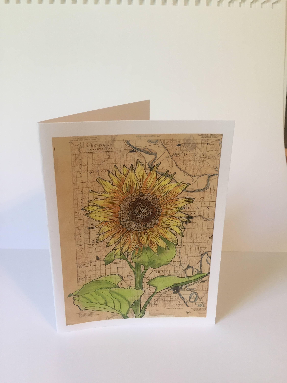 Kansas Sunflower Note Card
