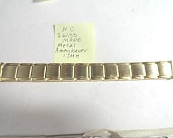 Vintage 1950s HC Swiss Expansion Band Amerikaner Gold Filled Band 17mm Ends