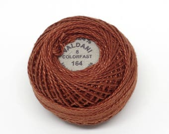 Valdani Pearl Cotton Thread Size 8 Solid: #164 Red Brown