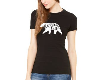 Mama bear Black Color Womens Fitted T-Shirt Available in all sizes and colors