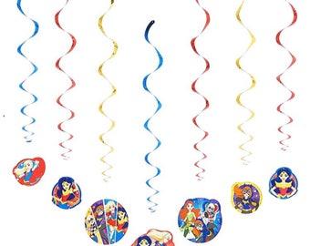 Dc superhero girls swirl hanging decoration