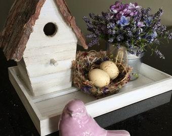 Birdhouse Centerpiece Spring 5 piece set  Bird Easter Gift Mother's Day Tabletop Decor Desktop Farmhouse Decor Gift Michelle Dornstreich