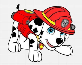 Paw Patrol Svg File, Marshall Svg File, Svg Cut File, Svg Cutting File,Disney Svg File, Svg For Silhouette, Svg For Circut,