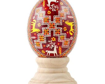 Shpetky Real Chicken Eggshell Hand Decorated Ukrainian Easter Egg Pysanky