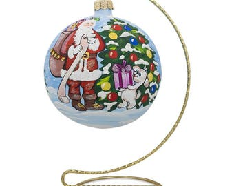 """7.5"""" Twisted Curved Golden Tone Metal Holder Ornament Stand"""