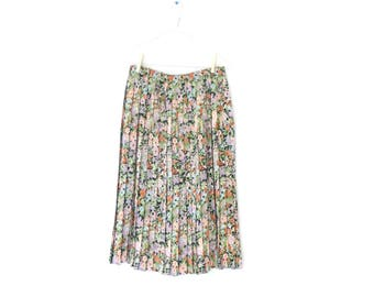 vintage pleated skirt from designer french length maxi liberty floral pattern