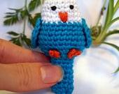 parrot canary bird plushie keychain - crochet amigurumi