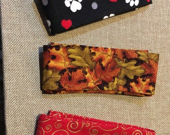 Dog Collar Covers, Holiday Pet Assessories, Medium Dog collar covers