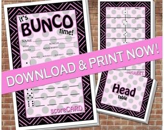 Printable Bunco Set