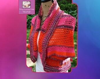 Summer Shrug, Crochet Shrug, Freeform Crochet, Bohemian Shrug, Oversize Sweater, Irish Crochet, Hand Knit Sweater, Bolero, Knit Shawl, Wrap