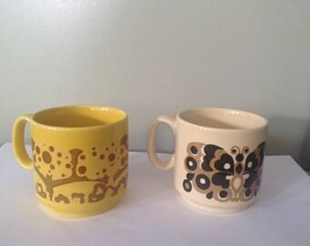 Royal Alma, mugs, England, cups, vintage, 1960s cups