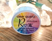 Clear Quartz, Organic, Crystal Infused Vegan Lip Balm - Intuition - Buttercreme