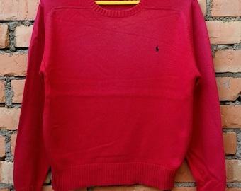 Rare!!! Polo Ralph Lauren Knitwear Sweatshirt Small Pony Medium Size