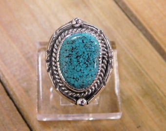 Sterling Silver Turquoise Ring Size 8.5