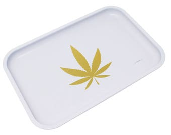 """Full Size Rolling Tray – 12"""" x 8"""" White Tray – Lionhead"""