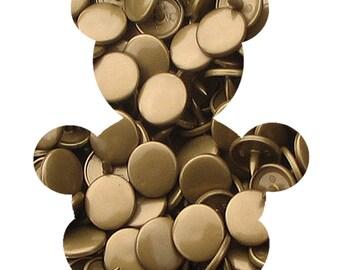 Set of 10 T5 KAM snaps - Bronze - B11