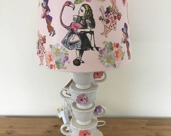Alice in Wonderland Teacup Lamp