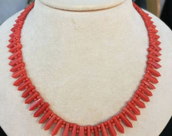 Red Sardinian coral necklace (beginning of 20th century)