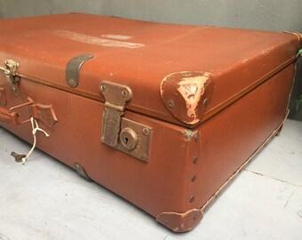 Large vintage suitcase, vintage suitcase