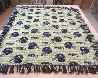 Fleece Seattle Seahawks Print Blanket