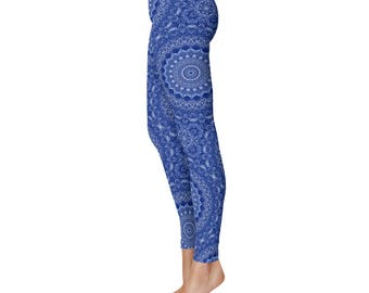 Blue Leggings - New Fashion Leggings, Yoga Leggings, Stretch Pants for Women