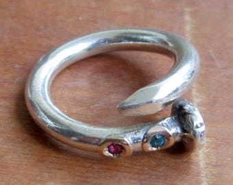 Nail Ring Sterling Silver by Amires Saint