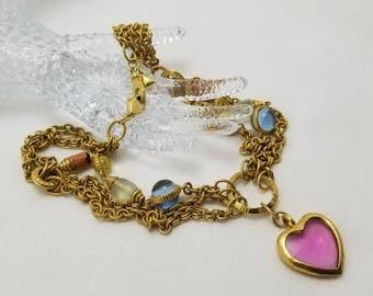 LIZ CLAIBORNE Heart Necklace