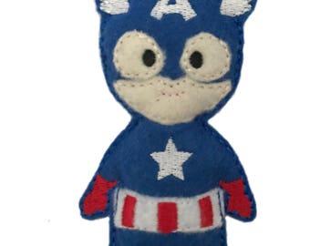Catnip Toy - Captain America inspired