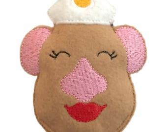 Mrs Potato Head inspired Catnip Toy