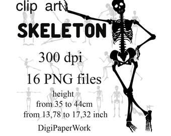 Halloween Silhouettes Skeleton Clip Art Skeleton Digital Clipart Instant Download Scrapbooking Elements clip art halloween Skeleton