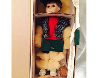"Moments Treasured Porcelain Doll ""Dusty""."