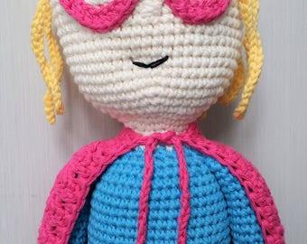 Hand Crocheted Suzy Supergirl