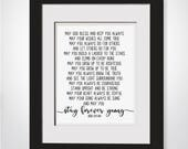 Bob Dylan Lyrics|Stay Forever Young|Framed Song Lyrics|Wedding Lyrics Frame|Poem For Godson|Baptism Gift Godson|Gift From Aunt|Nursery Decor