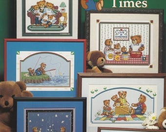 Teddy Bear Times, Stoney Creek Collection Cross Stitch Sampler Pattern Book 188