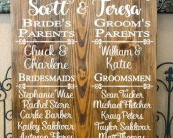 Welcome Wedding Sign - Welcome to our Wedding Wood Sign - Wedding Wood Signs - Personalized Wood Sign -  Wedding Party