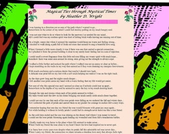 Magical Ties through Mystical Times - Printable Poetry Instant Download