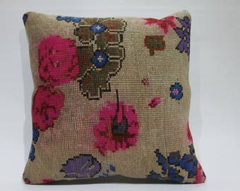 20x20 oushak pillow floral pillow pink rug cushion cover 50cmx50cm sofa throw pillow case handmade body pillow cover decorative pillow 1400