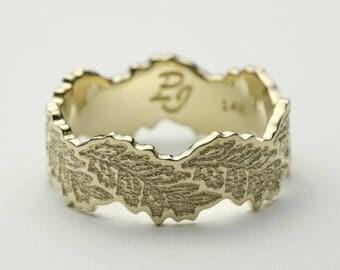 Leaf Wedding Band, Leaf Wedding Ring, Gold Leaf Ring, Leaves Wedding Ring, Leaves Wedding Band, Gold Leaves Ring, Gold Leaf Ring, Leaf