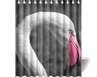 flamingo shower curtain shower curtains flamingo decor bath decor bath curtain - Pink Flamingo Bath Decor