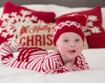 ON SALE, Newborn Christmas Hat, Newborn Santa Hat, Newborn Hat, Newborn Christmas Props, Newborn Girl Hat, Newborn Boy Hat, Newborn Outfit