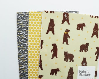 ON SALE 3 Fabric Sticker Bundle : Walk through the Forest - Dailylike Canada