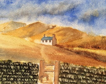 Original Watercolour landscape painting by christine Ingram