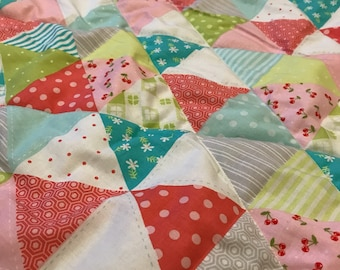 Girly Triangle quilt