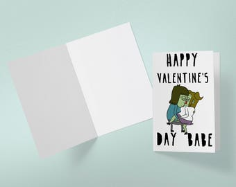Regular Show Muscle Man Starla Valentine's Day Card